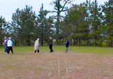 group walking the labyrinth